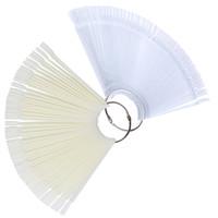 manucure en éventail achat en gros de-50 Pcs Fan Forme Affichage Transparent Faux Ongles Conseils Couleur Carte Nail Art Pratique Affichage Outils DIY Manucure