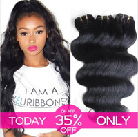 Wholesale cheap wavy human hair extensions - 50g Cheap Hair. 100% Brazilian Human Hair Weave Wavy Body Wave Natural Color Hair Extensions 6bundles lot Free Shipping