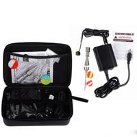 elektronische e nagel großhandel-Enail Kit für trockenen Kraut Vaporizer Digital PID Elektronic Dab Titan Nagel Domeless E-Nagel-Wachs Vaporizer mit Reißverschluss Fall