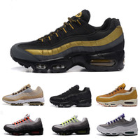 Wholesale Best Mints - Free shipping Hight Quality New Mens Air Sports 95 Running Shoes Black Men best Athletic walking Tennis Shoes Grey Man Training Sneakers