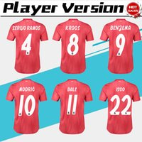 Wholesale real player for sale - Player Version Real Madrid rd red Soccer Jerseys Real Madrid third Soccer Shirt BALE Football Uniforms ASENSIO ISCO size S XL
