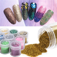 Wholesale Luminous Nails - 2018 new 24 color Glitter Powder Sequins for Slime Glitter Shaker Jars Set packing for Scrapbooking Face Nail Art Non-Toxic Color Gift Box