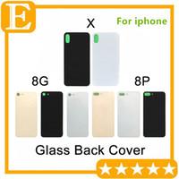 oem iphone backs toptan satış-IPhone8 Için OEM + iPhone 8 Artı 8 Artı X Arka Pil Kapağı Kapı Arka Panel Cam konut Ile Yapışkan Etiket Değiştirme Ücretsiz DHL 30 ADET