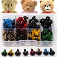 diy dolması yapılmış hayvanlar toptan satış-80 Pairs 12mm 8 Renkler-Mix Plastik Güvenlik Gözler Kutusu Teddy Bear Dolması Oyuncak Yapış Hayvan Kukla Bebek Zanaat DIY için
