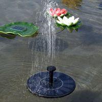 ingrosso sistemi idrici all'aperto-1 set Sistema di irrigazione Energia solare Fontana Piscina Acqua Sprinkler Pompa Attrezzi da giardino Piante da sole Annaffiatura Serra all'aperto
