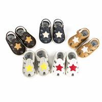 ingrosso scarpe a punta per i ragazzi-Baby Boys Girls Shoes Scarpe da ginnastica per bambini a forma di stella a cinque punte