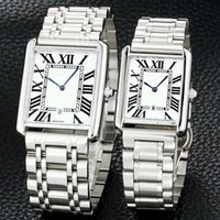 Wholesale mens roman numerals watch - AAA Best Gift Luxury Couple Watch Dress Women Mens Watches Top Brand Quartz Daul Time Dials Work Roman Numerals Stainless band Wristwatches
