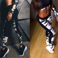 4a4325bc9a4e4 Wholesale camouflage army green leggings online - New Spring Fitness Women  Leggings Workout Pants Summer Sporter