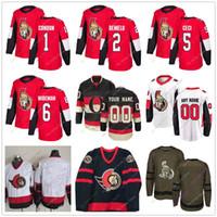 a9e0ea18f Mike Condon Dylan DeMelo Cody Ceci Chris Wideman Jersey 2019 Men Women  Youth Kid Ottawa Senators Winter Classic C A Patch Salute to Service