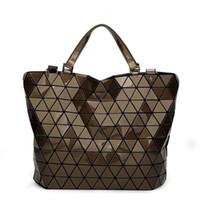 Wholesale Coffee Bucket - 2017 Women BaoBao Bags Bucket Bag Geometry Sequins Mirror Saser Plain Folding Shoulder Bags Female Tote Bao Bao Ladies Handbags