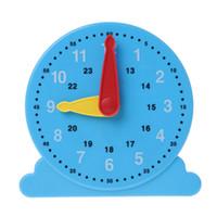 freie bildung für kinder großhandel-Neue wissenschaftliche Erkenntnis-Uhr-Bildungs-Mathe-Spielzeug-Kind-Kind-frühe unterrichtende Spielzeug-Geschenk-Kinderuhr-Zeit-kognitive Hilfsmittel geben Verschiffen frei
