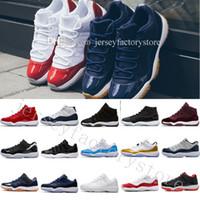 samt sportschuhe großhandel-Preiswerte neue freigesetzte 11 Mann-Frauen-Basketball-Schuhe 11s blaue Saphir-Samt-Erbin-Spitzenqualitäts-Sport-Schuhe mit Schuh-Kasten US 5.5-13 Eur 36-47