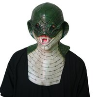 Wholesale headgear costume for sale - Group buy MostaShow Snake Full Head Animal Mask Full Actor s Headgear Creepy Adult Costume Halloween Party Play Masquerade Cosplay Mask