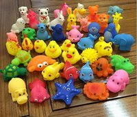 Wholesale fishing bath toys for sale - Group buy 1000Pcs New Baby Bath Toys Animal Water Sounds Mini Starfish Elephant Fish Kids Bath Small Duck Toys Swiming Beach Gifts