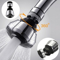 Wholesale water saving faucet adapter - 360 Rotate Swivel Faucet Nozzle Filter Adapter Water Saving Tap Aerator Diffuser Kitchen Faucet Bubbler AAA736