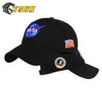 sombrero de enfriamiento para niños al por mayor-Bordado tridimensional de alta calidad NASA Space Travel Memorial Gorra de béisbol Sun Hat Riding Cap Cool Cap Parent-child