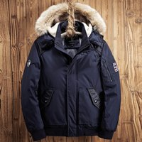 Wholesale mens winter jackets for sale - Pocket Decoration Thickening Mens Designer Winter Coats Rib Bottom Pendulum Mens Winter Jacket Luxury Brand Winter Jacket Men