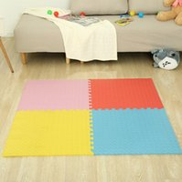 tapis de jeu de puzzle achat en gros de-Enfants rampant tapis solide feuille forme jouer puzzle tapis mousse Playmat enfants sécurité chambre de bébé étage sol tapis doux FFA184 9 couleurs 50 pcs