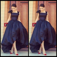 Wholesale styles for formal maternity - 2018 Charming Arab Style Black High Low Evening Dresses Sexy Front Short Back Long Evening Party Dress Gowns For Women's Formal Dresses