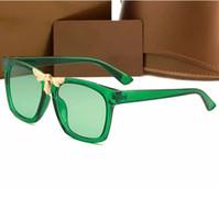 güneş gözlüklerinin çoğu toptan satış-Kadınlar için en popüler tasarımcı güneş gözlüğü erkekler klasik çerçeve güneş gözlükleri 100% uv koruma gözlük 6 renkler güzel yüz