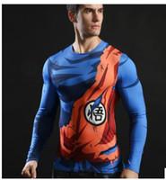 Wholesale V Neck Compression Shirt - 2017 Ball Z Men 3D Dragon Balldragon ball t shirt Men anime shirt 3d t-shirt printed compression shirt tops Fitness t