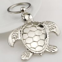 kaplumbağa yenilik hediye toptan satış-Sevimli Kaplumbağa Kaplumbağa Anahtarlıklar Araba Anahtarlık Kadın Erkek Hayvan Kaplumbağa için Anahtar Zincirleri Çanta Kolye Yenilik Hediye