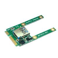 mini pci usb adapter großhandel-Notebook Mini-PCI-e-zu-USB-Adapter PCI-e-Erweiterungskarte mit halber Bauhöhe und halber Bauhöhe