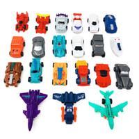modelo 21 venda por atacado-Modelo de carros brinquedos dos desenhos animados diecast decoração crianças brinquedo de natal carro deformado para presentes de aniversário 21 estilos C5344