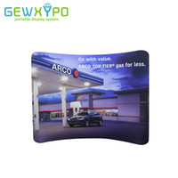 Wholesale Ups Trade - 10ft*8ft Tension Fabric Curved Advertising Backdrop With Banner Printing,Trade Show Pop Up Booth Portable Aluminum Wall Display
