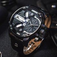 büyük marka saatler toptan satış-En Lüks Moda Spor Erkekler Saatler Büyük Arama Ekran Üst Marka Lüks İzle Kuvars İzle Çelik Band Erkekler Için 7331 Moda Saatı DZ73