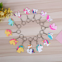 Wholesale Japanese Plastic Dolls - Durable Mini Key Ring For Men And Women Doll Unicorn Keys Buckle Colorful Keychain Hot Sale 0 4hx X