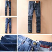 Wholesale Plus Size Designer Clothing - 2018 New Authentic Lee ® Mens Designer Jeans Men's Pants Clothing Hip Hop True Streetwear Sportswear Distressed Motorcycle sunmmer 29-42