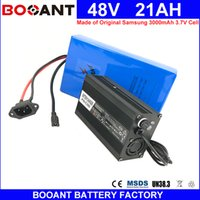 Wholesale e bike bicycle - BOOANT Made of Original Samsung 18650 cell Electric Bicycle Battery 48V 21AH E-Bike Battery for Bafang 1800W Motor 5A Charger