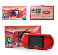 video oyun istasyonları toptan satış-Mini Taşınabilir PXP3 PXP (16Bit) PVP (8Bit) Oyun Video Konsolu TV-Out Oyunları Ince Istasyonu Oyun Konsolu Oyuncu Çocuk Noel En Iyi Hediye
