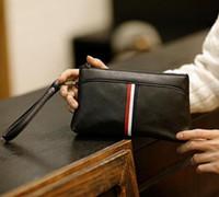 bolsas de couro coreano venda por atacado-Vendas da fábrica da marca saco coreano moda cor homens de couro bolsa de mão mens casual sportswear carteira dos homens bolsa de mão