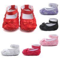 ingrosso nero mocassini del bambino-Cute Baby Shoes For Girls Soft Mocassini Shoe 2018 Summer Black Flower Baby Girl Sneakers Toddler Boy Neonato Scarpe First Walker