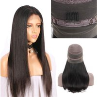 Wholesale Top Remy Wig - Top Qulity 360 Lace Frontal Wigs For Black Women 150% Density Pre Plucked Brazilian Straight Lace Front Human Hair Wigs Brazilian Remy Hair