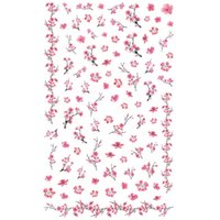 Wholesale diy beautiful nails for sale - Group buy 1 Sheet Beautiful Pink Plum Blossom Wintersweet Pattern Adhesive Nail Art Stickers Decorations DIY Saon Tips