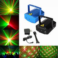 luces de dj gratis al por mayor-Mini proyector negro caliente libre de DHL Disco DJ verde rojo partido de luz de la etapa de iluminación láser de demostración, LD-BK