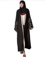 tranchée féminine achat en gros de-2018 Mode Automne Femmes Longue Tranchée Manteaux Ouvert Avant Floral Dentelle Cordon De Taille Taille Manteaux Casaco Feminine Casual Outerwear Noir