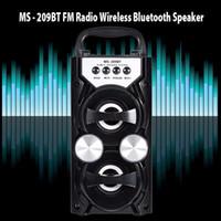 Wholesale Usb Output Bluetooth Music - Redmaine MS-209BT Portable Wireless Bluetooth Speaker FM Radio High Power Output AUX TF USB Music Speakers Loudspeaker