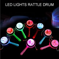 traditional baby rattles Australia - Hot Sale - Babies Funny Playing Toys Boys and Girls LED Lights Up Rattle Drum Traditional Toys for Children