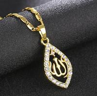 islam erkekler toptan satış-Altın / Gümüş / Gül altın Renk Kolye Kolye Kadın Erkek Takı Orta Doğu / Müslüman / İslam Arab Ahmed