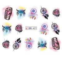 ingrosso marilyn monroe adesivi decalcomanie-Acqua sticker per nail art decorazione cursore dreamcathcer bovini Marilyn Monroe nail design decal manicure accessori lacca