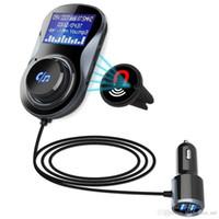 ücretsiz cep telefonu müziği toptan satış-Subwoofer araba MP3 çalar Bluetooth alma hands-free fırlatma araba müzik çakmak şarj FM cep telefonu hediye