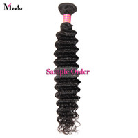 Wholesale Best Indian Hair - Best Quality 10A Unprocessed Brazilian Peruvian Straight Body Loose Deep Curly Water Wave Remy Human Hair Extensions One Piece as Sample