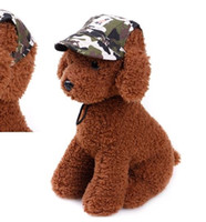 Wholesale medium hat size - Pet Dog Canvas Hat Sports Baseball Cap with Ear Holes Summer Outdoor Hiking for Small Dogs Size S M Pet Supplies p98