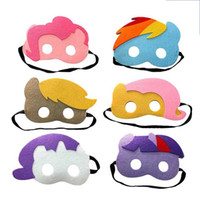 regalos en forma de caballo al por mayor-Horse Shape Face Mask Plush Cartoon Disfraz Party Máscaras de disfraces suaves para Childen Cosplay suministros festivos regalo de cumpleaños 2 8dr UU