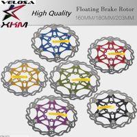 partes del rotor al por mayor-Velesa Ultralight mtb bicicleta disco rotor 160/180 / 203mm rotores partes de bicicleta bicicleta 6 colores bicicleta de montaña ciclismo