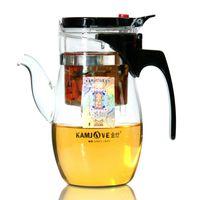 teekannen-sets großhandel-freies Verschiffen Kamjove 600ml Teekanne elegante Tasse Glas Tee Set Glas Teekanne Tee Kunst Tasse